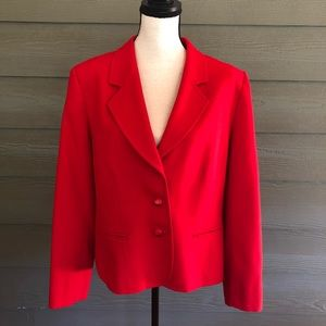 Pendleton Red Wool Blazer Jacket coat Vintage Vtg